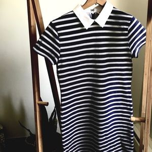 • Brooks Brothers nautical navy striped dress •